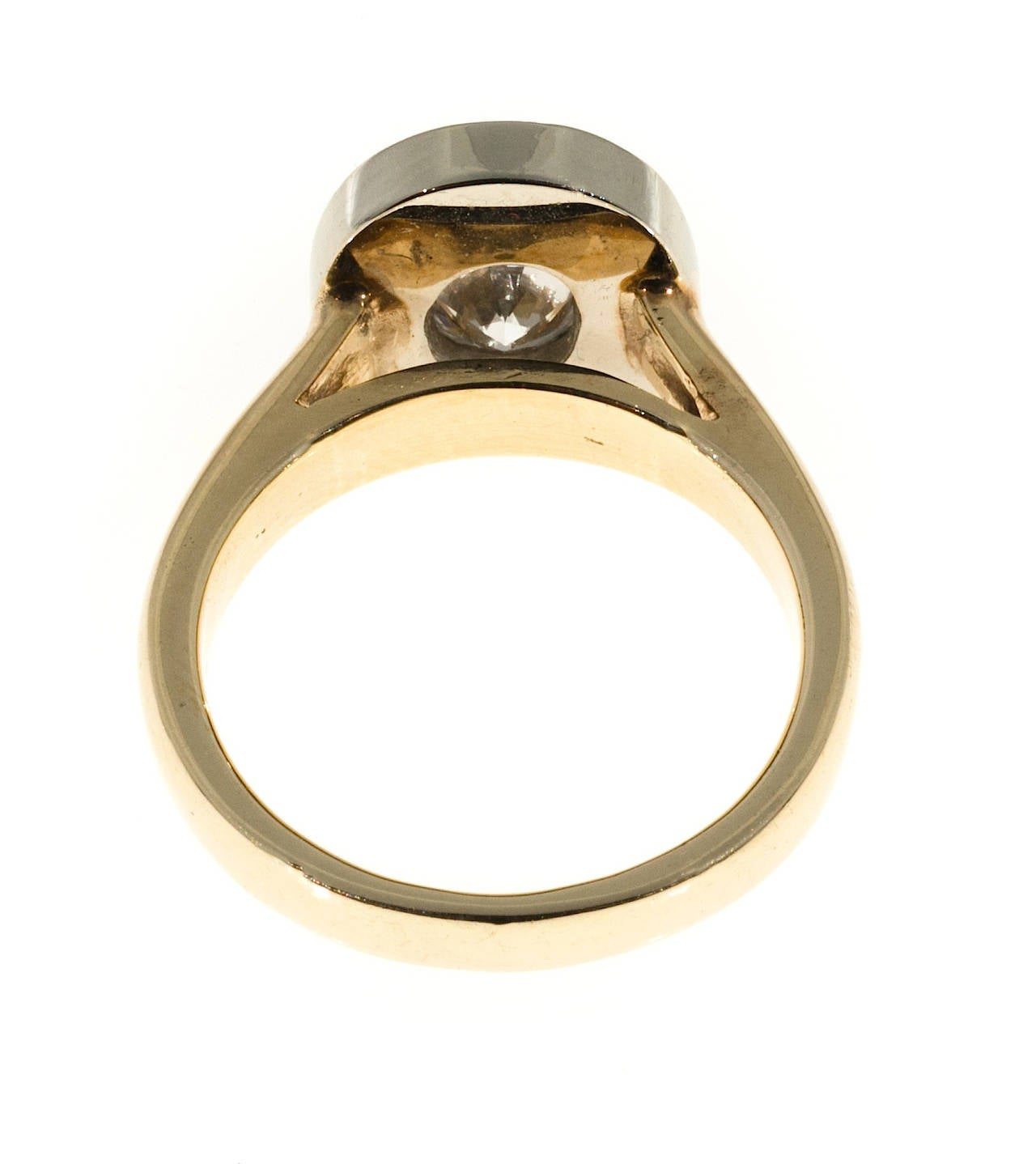 Oval Diamond Gold Halo Ring 3