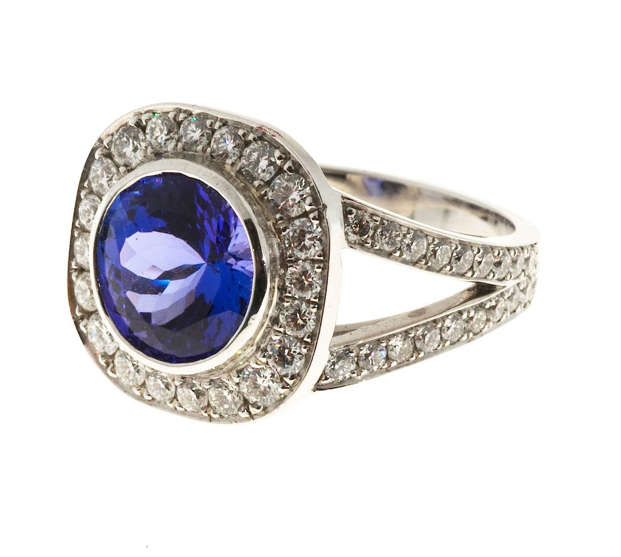 shop pear gold deep rings halo blue engagement cut white tanzanite ring fine artworks trencheff