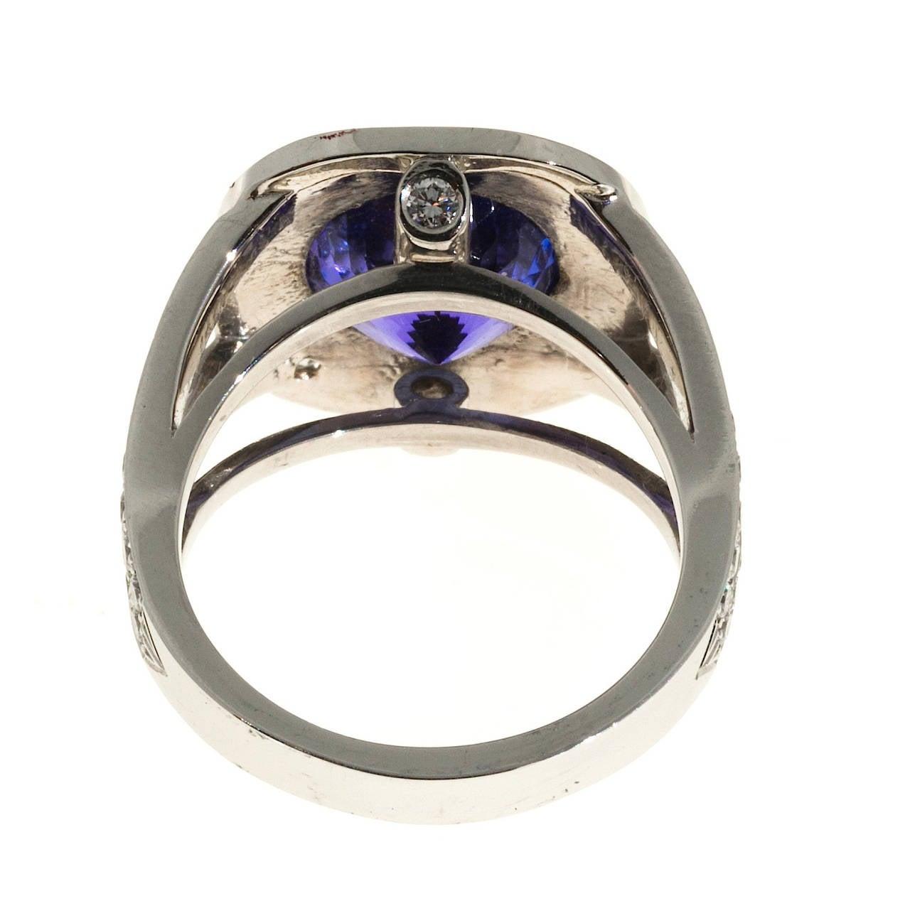 tanzanite platinum ring at 1stdibs