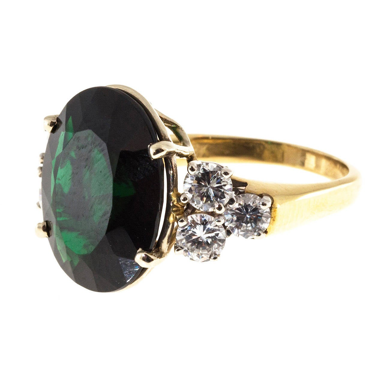green tourmaline gold white engagement in maine rings tw diamonds with ring
