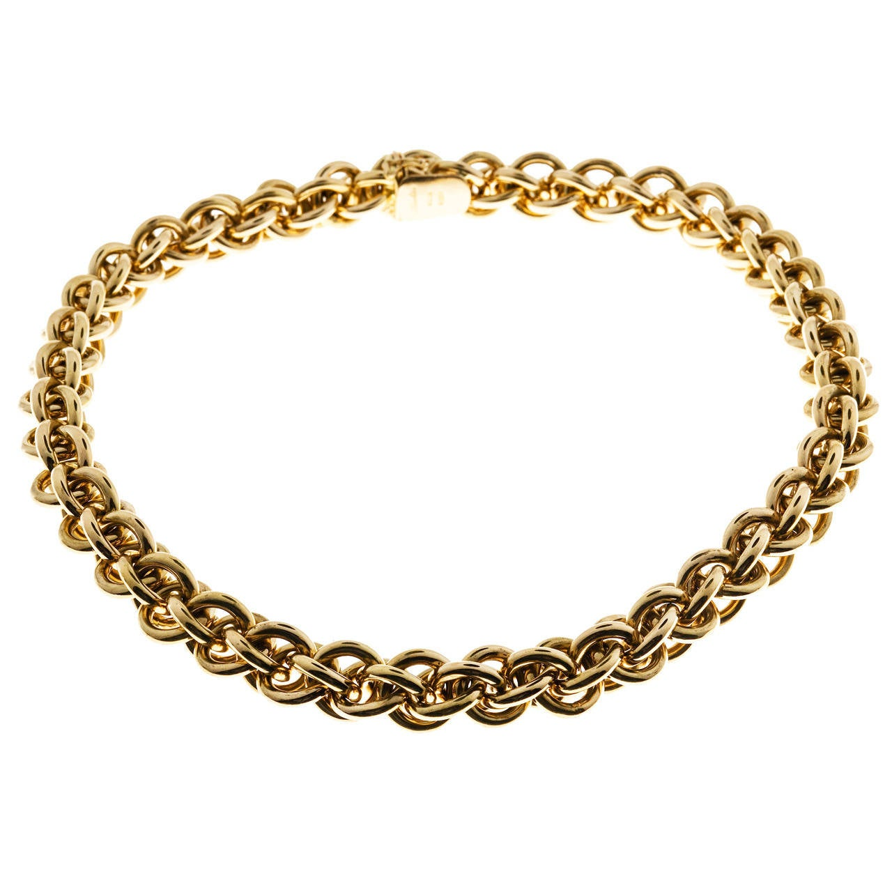 marchisio italian gold woven link necklace for