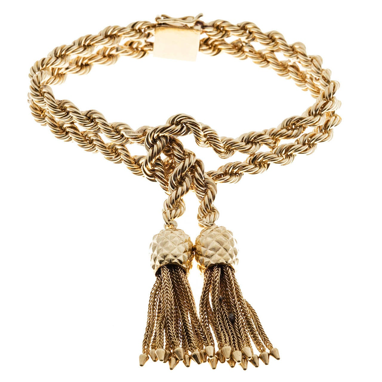 Tiffany & Co. Rope Knot Tassel Gold Bracelet 1