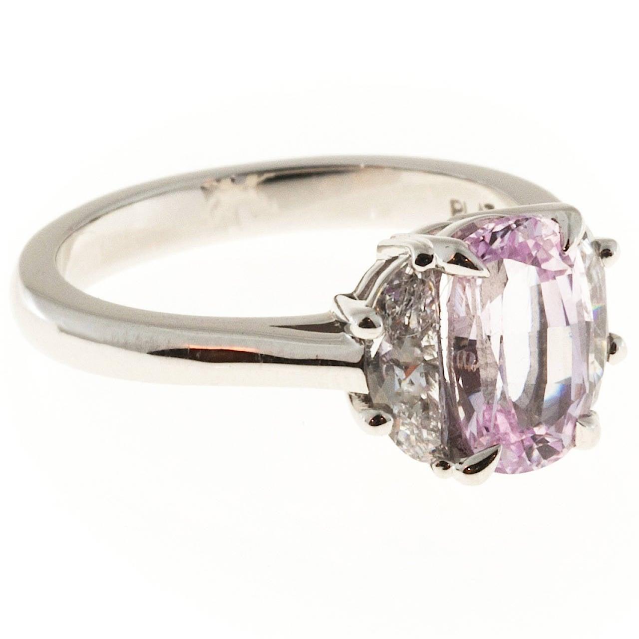 suchy light pink cushion sapphire