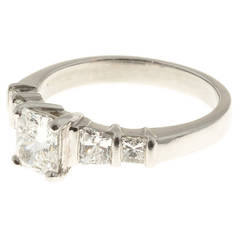 Radiant Cut Diamond Platinum Ring