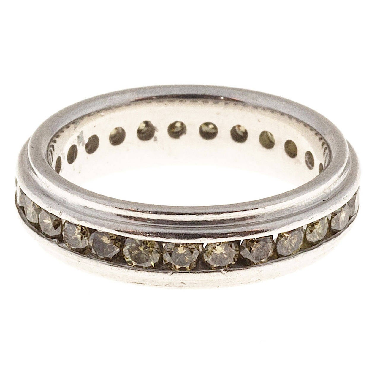 Colored  Diamond Eternity Band Channel Set Ring