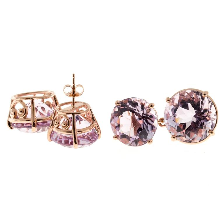 Peter Suchy Lilac Amethyst Gold Earrings 5