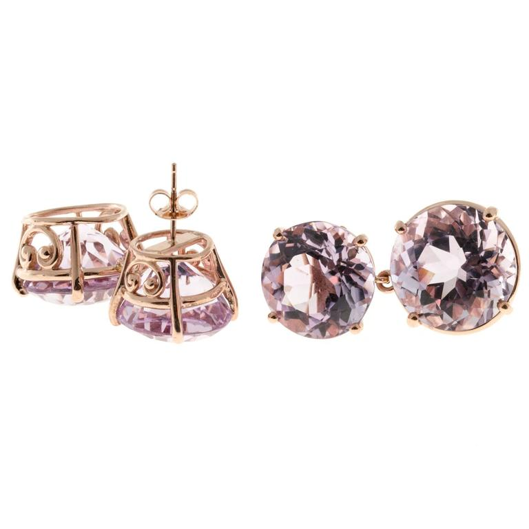 Peter Suchy Lilac Amethyst Gold Earrings 7