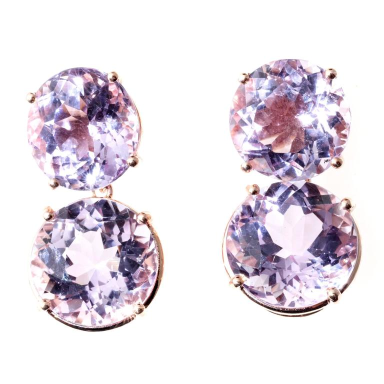Peter Suchy Lilac Amethyst Gold Earrings 6
