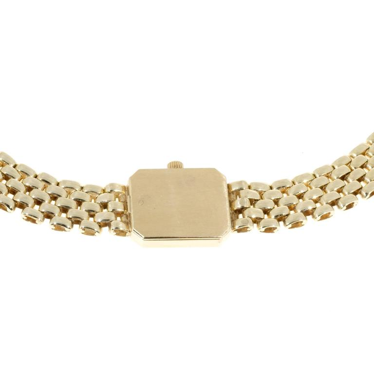 Women's Baume & Mercier Ladies Yellow Gold 5 Row Panther Quartz Wristwatch For Sale