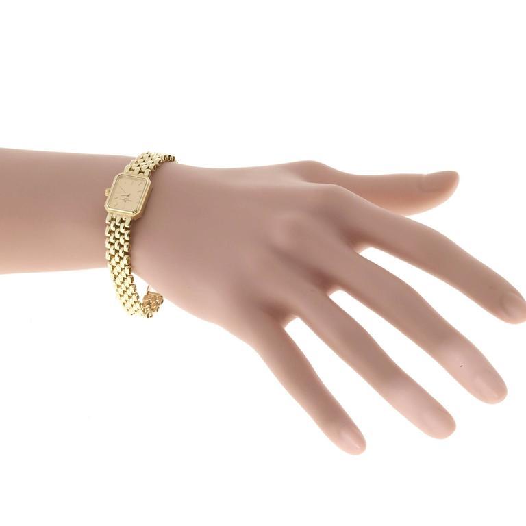 Baume & Mercier Ladies Yellow Gold 5 Row Panther Quartz Wristwatch For Sale 2