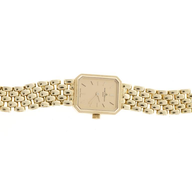 Baume & Mercier Ladies Yellow Gold 5 Row Panther Quartz Wristwatch For Sale 1