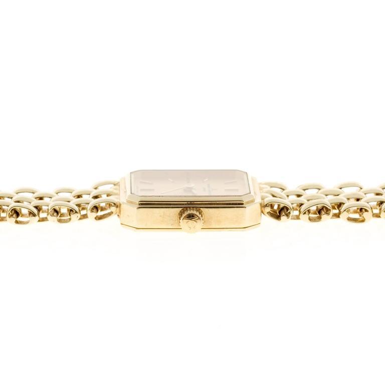 Baume & Mercier Ladies Yellow Gold 5 Row Panther Quartz Wristwatch For Sale 3