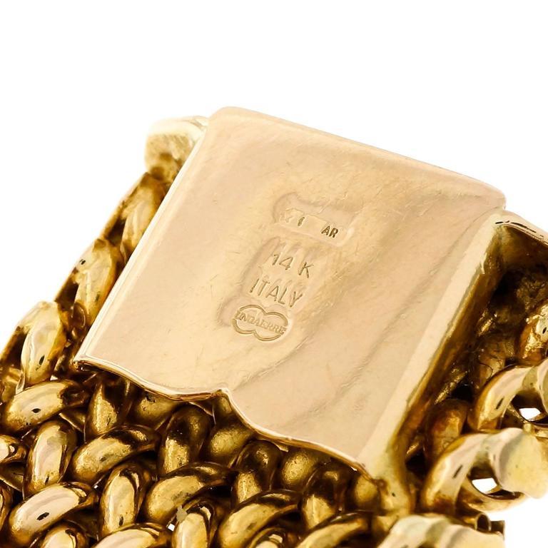 Unoaerre Italian Gold Mesh Bracelet at 1stdibs