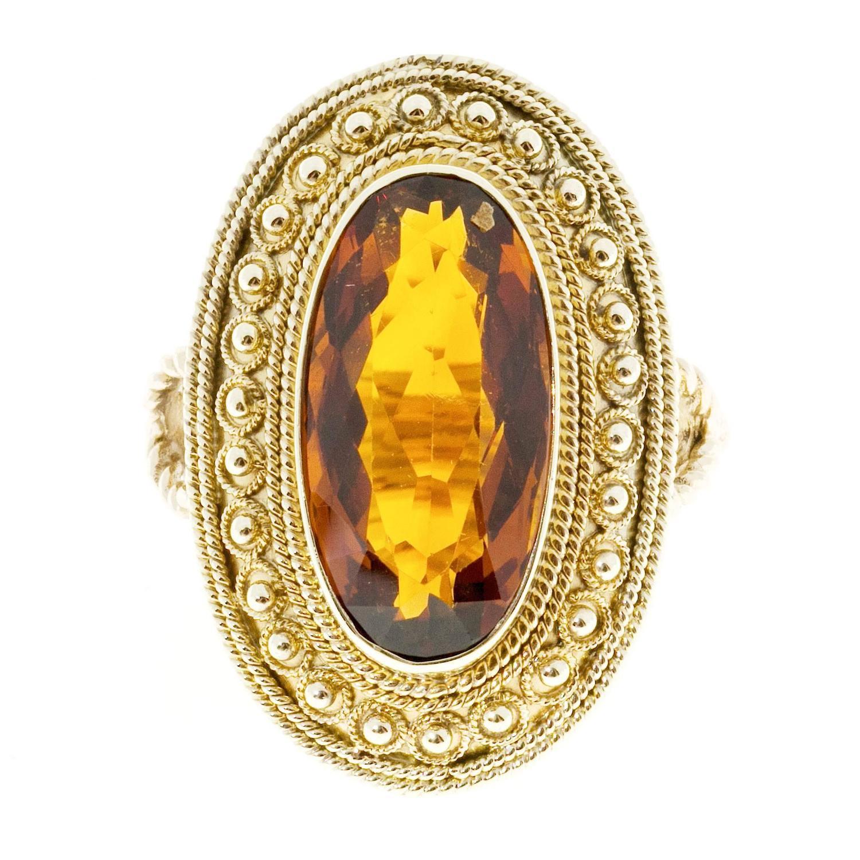 Madeira Citrine Gold Ring
