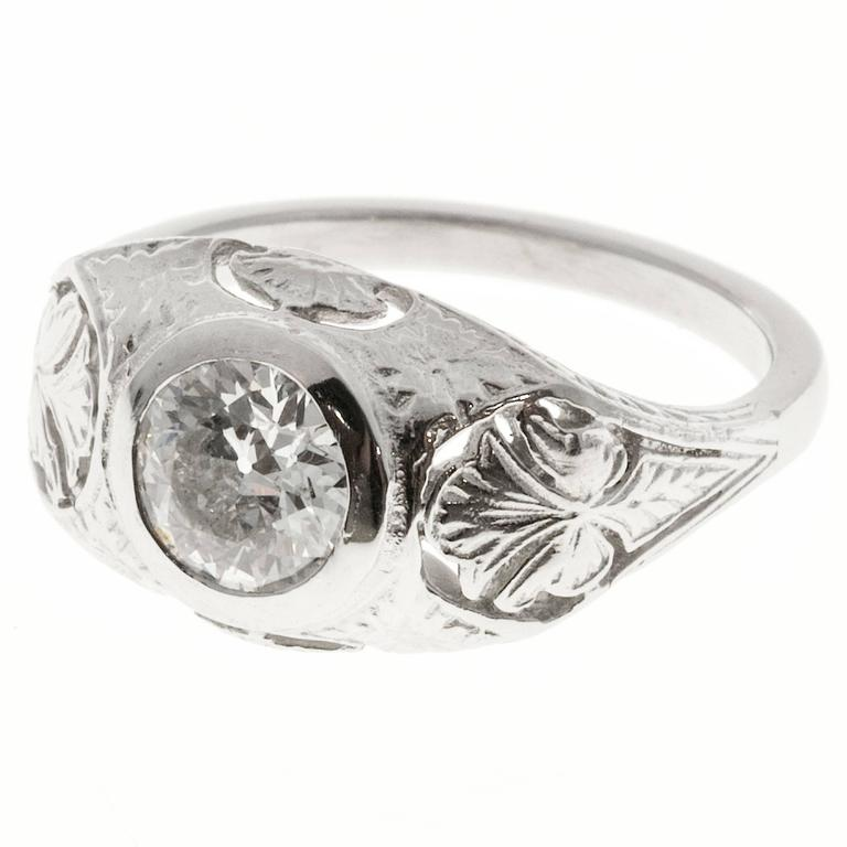 platinum pierced and engraved ring for sale at 1stdibs