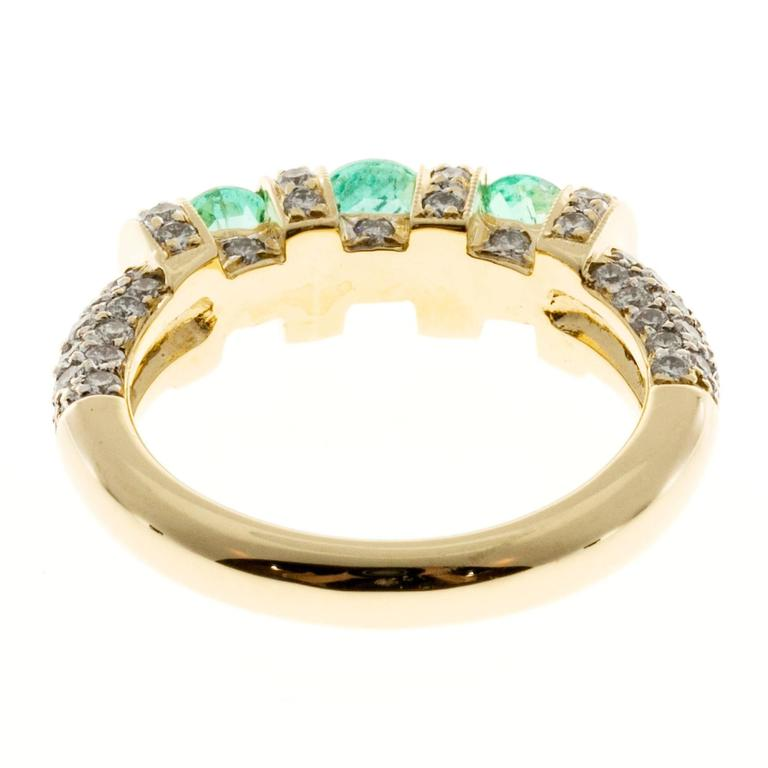 emerald pav 233 gold ring for sale at 1stdibs