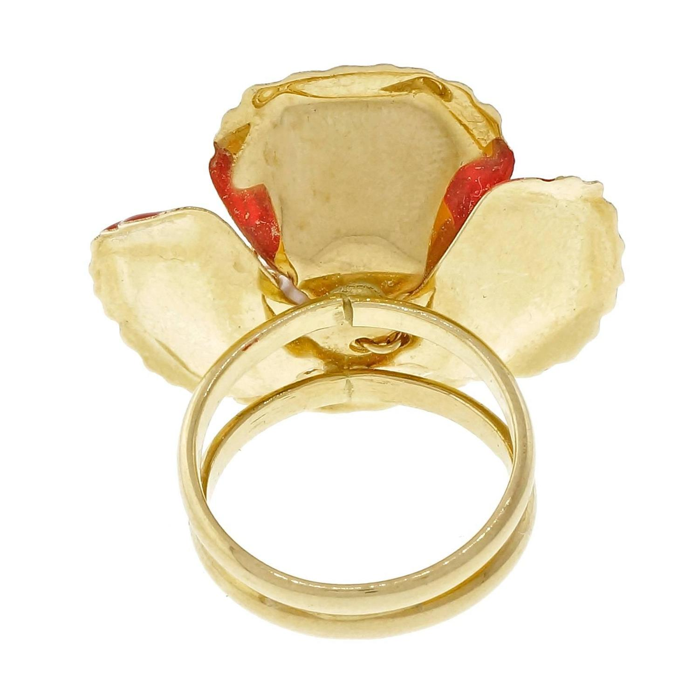 1970s bright enamel gold ring at 1stdibs