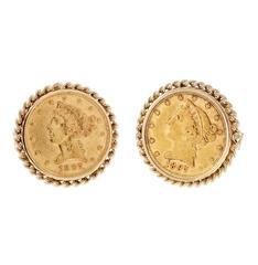 US Gold Coin Liberty Head Cufflinks