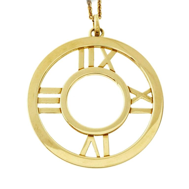 c9b5fc9c9 Tiffany & Co. 18k solid gold Atlas pendant and chain. 18k yellow gold Tested