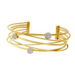 I. Reiss Diamond Gold Cuff Bracelet