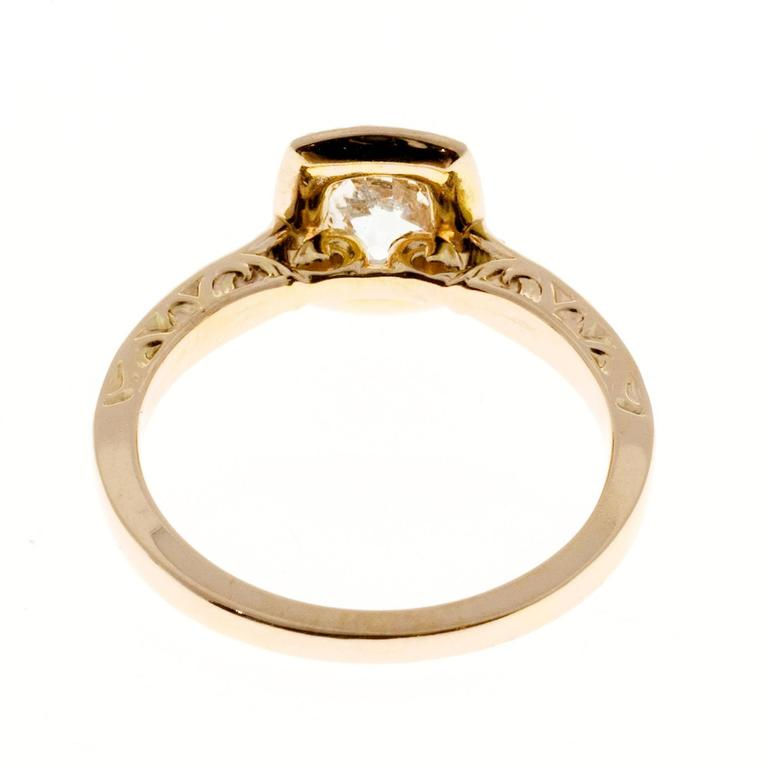 Peter Suchy Diamond Halo Gold Engagement Ring 6