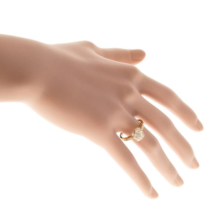Peter Suchy Diamond Halo Gold Engagement Ring 7