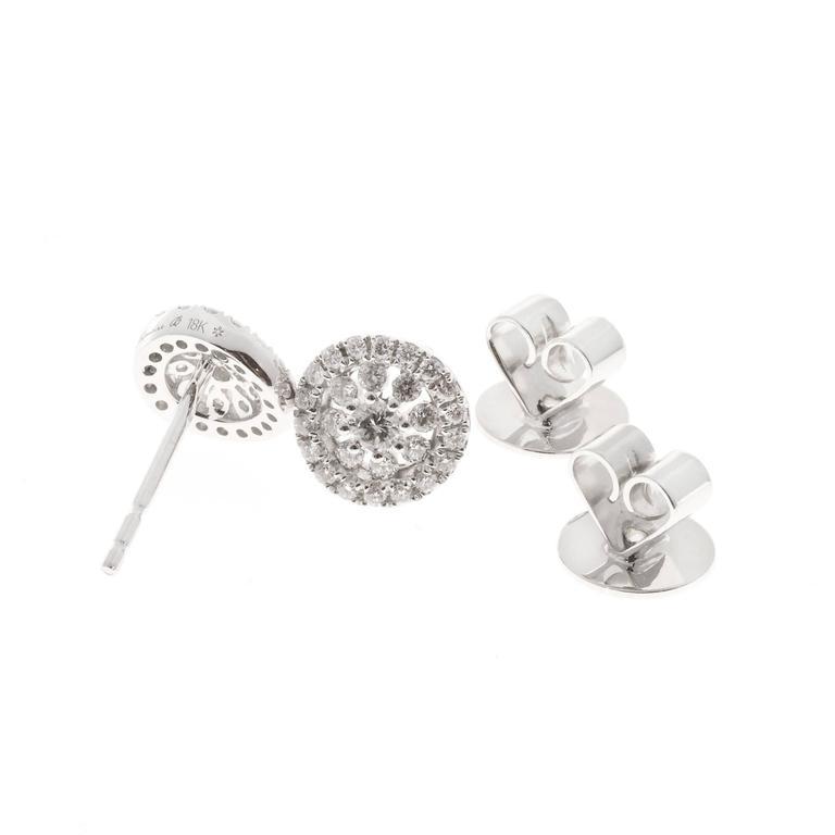 Memoire Diamond Gold Bouquet Stud Earrings For Sale 2
