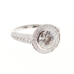 Peter Suchy Pave Diamond Platinum Engagement Ring