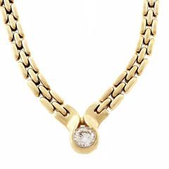 Kurt Gutman Three Row Panther Link Diamond Gold Platinum Necklace