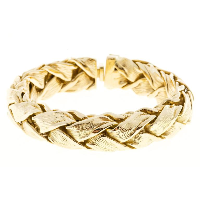 Tiffany & Co. Textured Gold Weave Bracelet