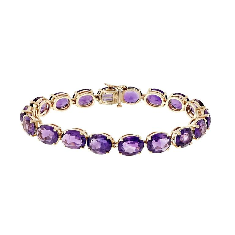 Tiffany & Co Amethyst Gold Link Bracelet