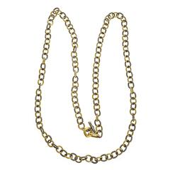 David Yurman Oval Link Silver Gold 30 Inch Necklace