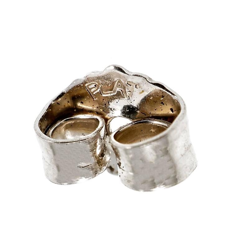 Gia Certified 3.47 Carat Pear Emerald Diamond Platinum Dangle Earrings For Sale 1