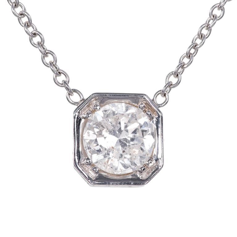Peter Suchy 1.39 Carat Diamond Gold Pendant Necklace