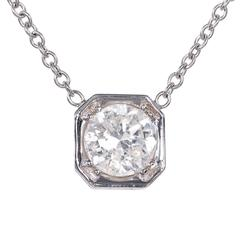 Peter Suchy 1.39 Carat Diamond Gold Pendant Necklace