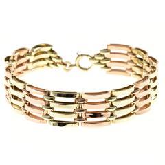 Seven Row Gold Link Bracelet