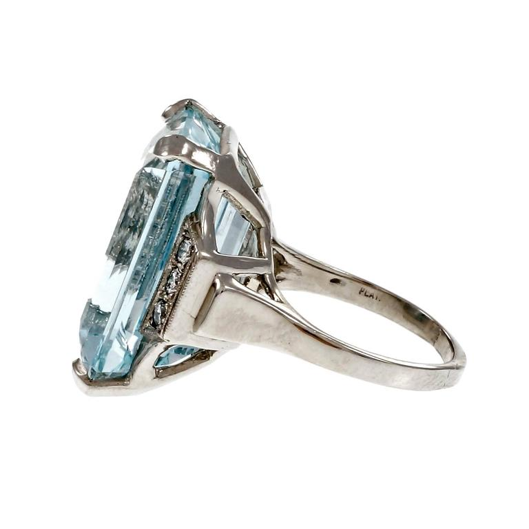 1950s aquamarine platinum ring at 1stdibs