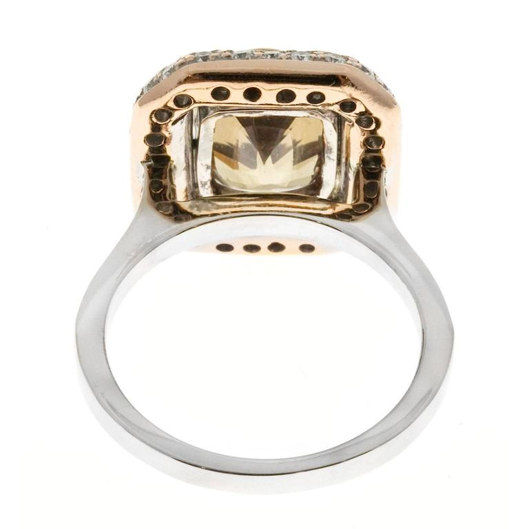 Brown Sapphire Diamond Gold Engagement Ring For Sale 2