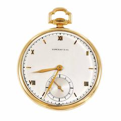 Tiffany & Co. Manual Wind yellow gold Open Face Pocket Watch