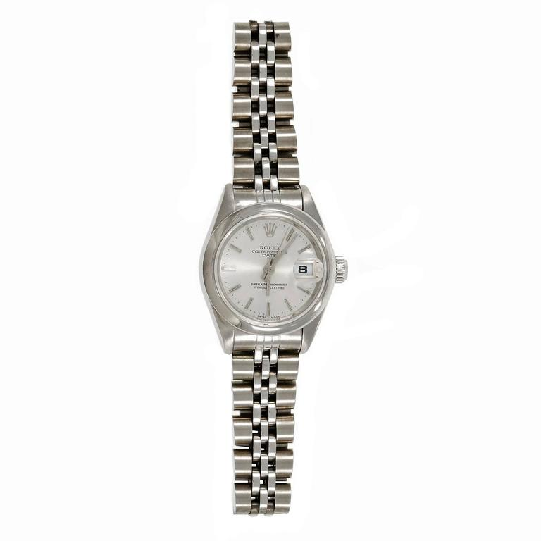 Rolex Ladies' Steel Oyster Perpetual Date Wristwatch 3