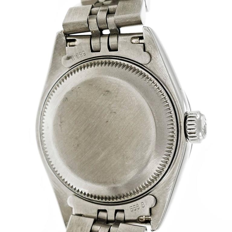 Rolex Ladies' Steel Oyster Perpetual Date Wristwatch 6