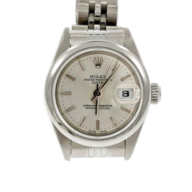 Rolex Ladies' Steel Oyster Perpetual Date Wristwatch 2