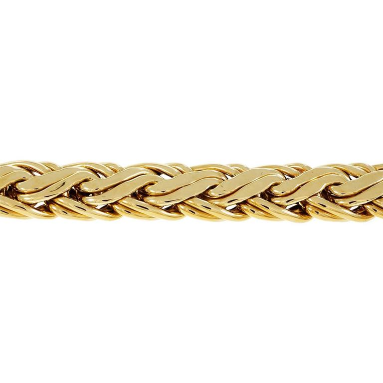 How To Basket Weave Bracelet : Tiffany and co gold basket weave bracelet at stdibs