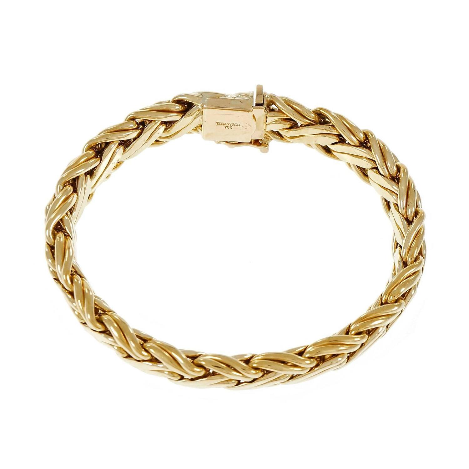 How To Basket Weave Bracelet : Tiffany and co gold basket weave bracelet for sale at stdibs
