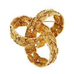 Tiffany & Co Infinity Textured Gold Knot Brooche