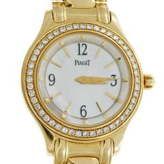 Piaget Ladies Gold Diamond Mother Of Pearl Dial Wristwatch