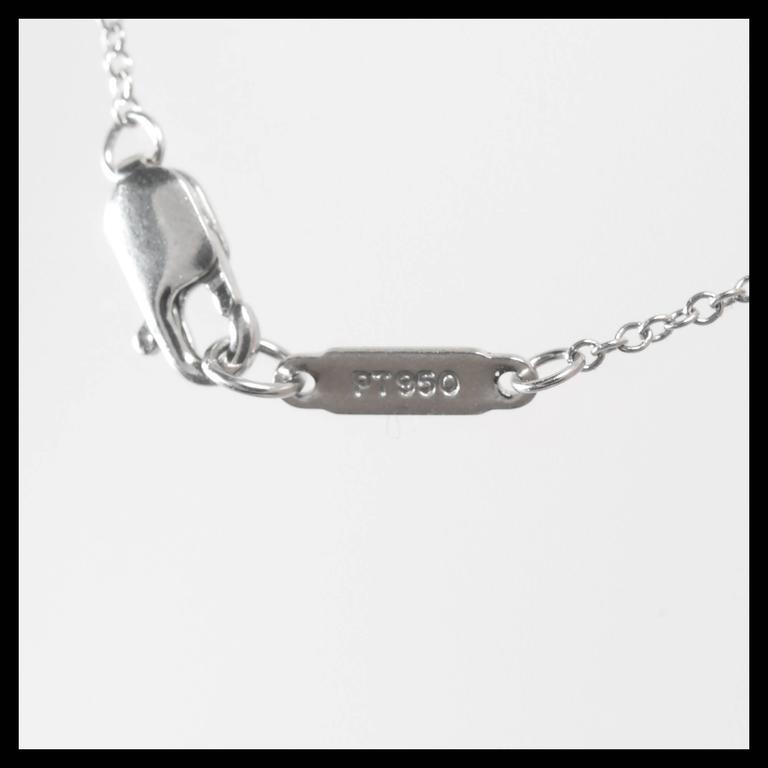 Tiffany & Co. Triple Dangle Diamond Platinum Necklace  For Sale 1