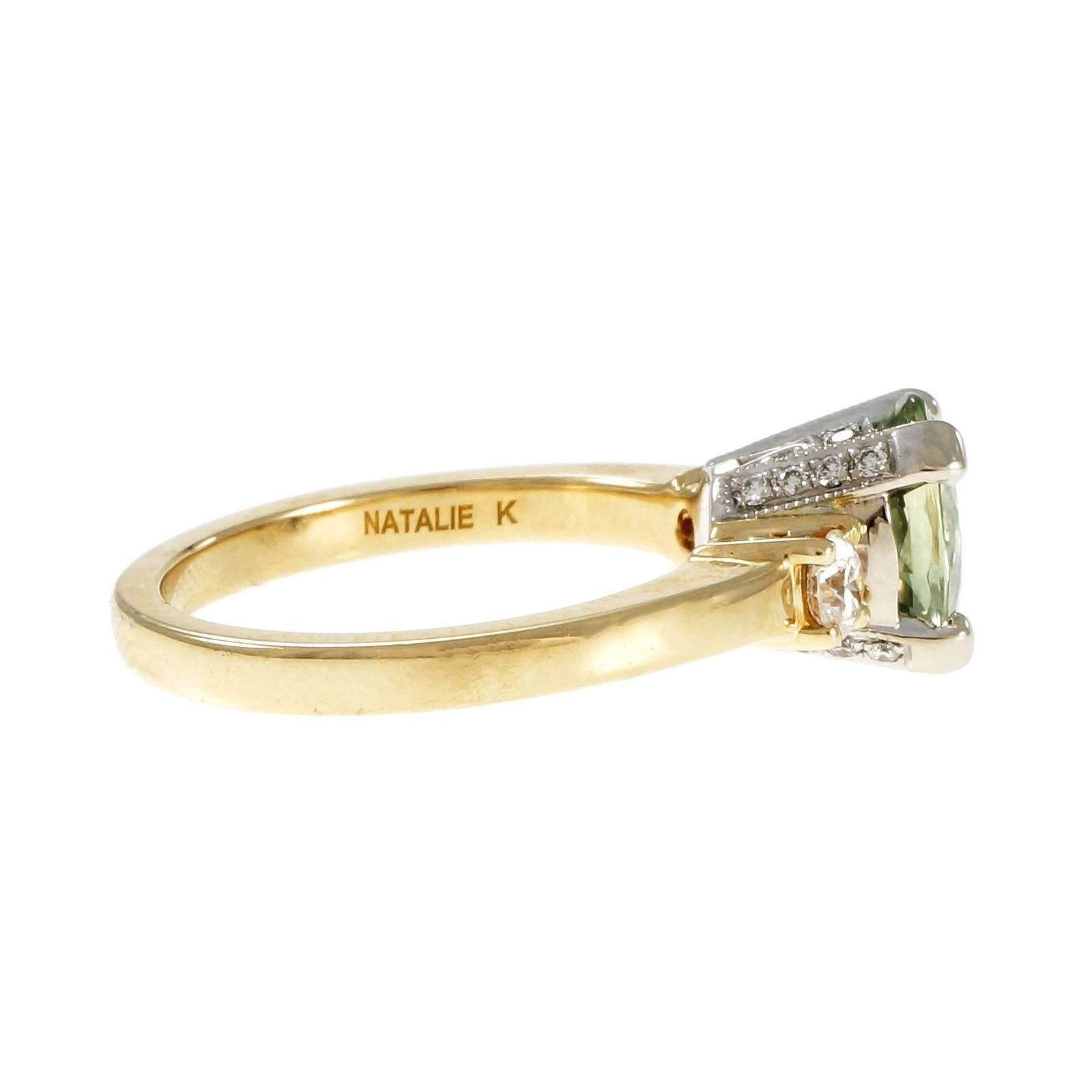 unique fresh natalie engagement gold yellow halo rings tolle ring diamond of k