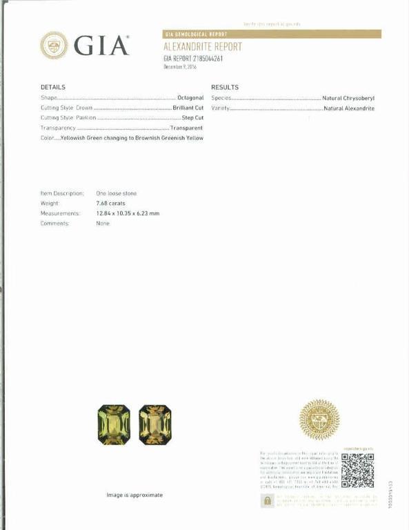 Peter Suchy 9.65 Carat Alexandrite Diamond Platinum Engagement Ring For Sale 2
