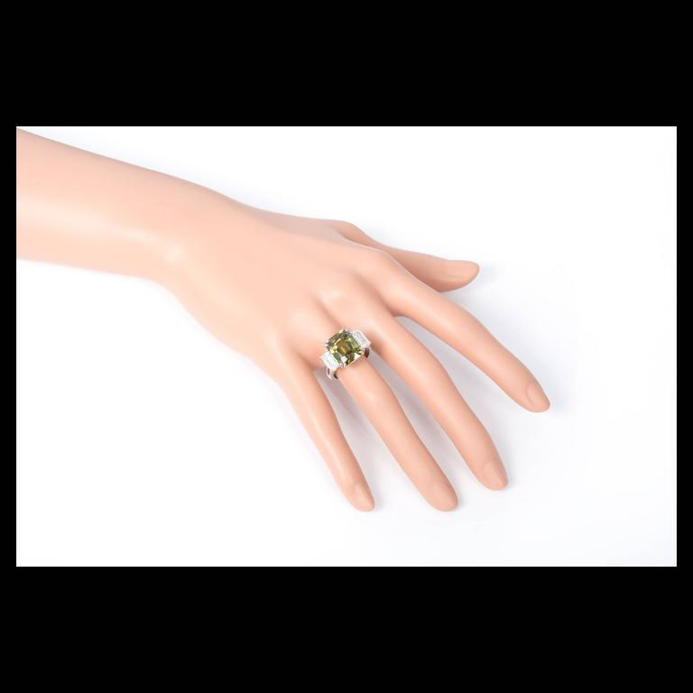 Peter Suchy 9.65 Carat Alexandrite Diamond Platinum Engagement Ring For Sale 1